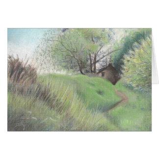 Hütte auf dem Hügel Karte