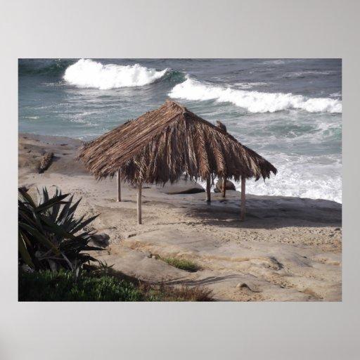 Hütte auf dem Strand Plakatdruck