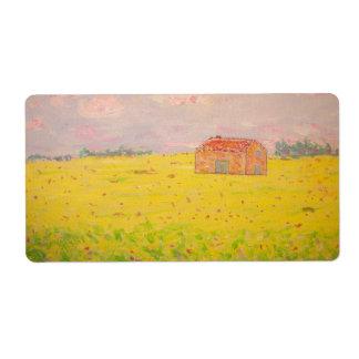 Hütte Provence Frankreich mit Sonnenblumefeld