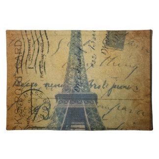 HütteChic Scripts Vintagen Turm Paris Eiffel Tischset