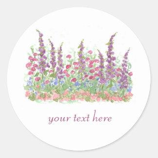 Hütten-Gartenkundenspezifische Watercolor-Blumen-K Aufkleber