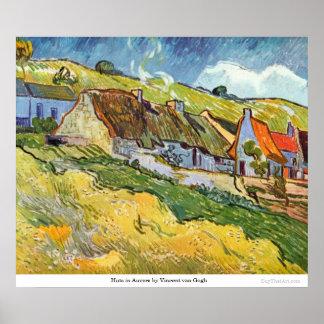 Hütten in Auvers durch Vincent van Gogh Plakatdruck