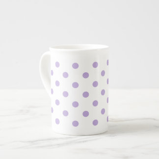 Hütten-Lavendel-Polka-Punkt Porzellantasse