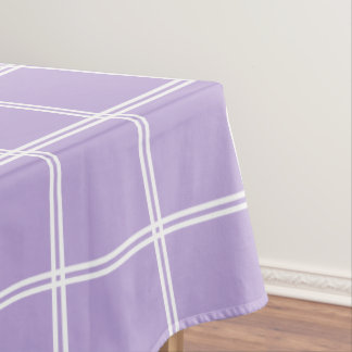 Hütten-Lavendel und weißer doppelter Streifen Tischdecke