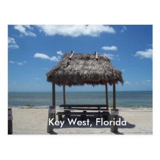 Hütten-Ozean-Seeansicht-Postkarte Key Wests Postkarte