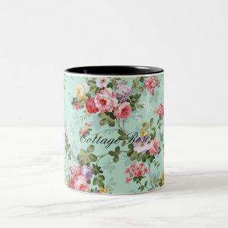 Hütten-Rosen-Kaffee oder Tee-Tasse Zweifarbige Tasse
