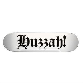 Huzzah! {Mittelalterliche Typografie} 18,7 Cm Mini Skateboard Deck