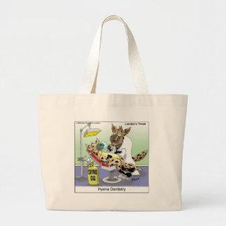 Hyänen-Zahnheilkunde-lustige Geschenke, T-Shirts Jumbo Stoffbeutel
