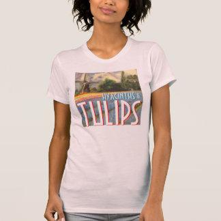 Hyazinthen und Tulpe-Windmühle T-Shirt
