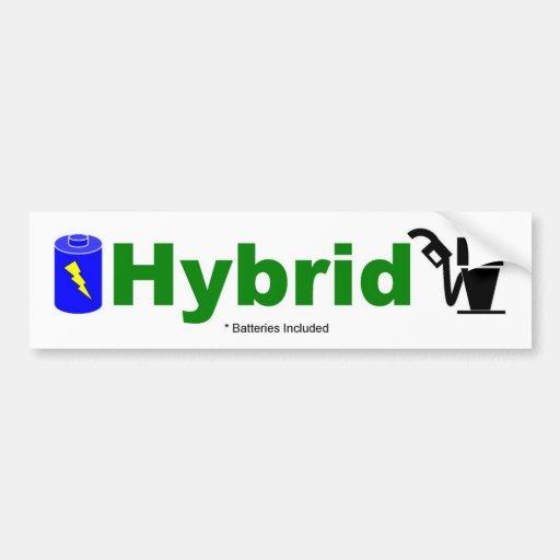 HYBRIDE bunte Pumpe und Batterie eingeschlossen Autoaufkleber