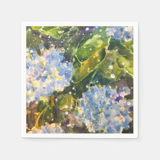 Hydrangea-Aquarell-Druckservietten Papierserviette