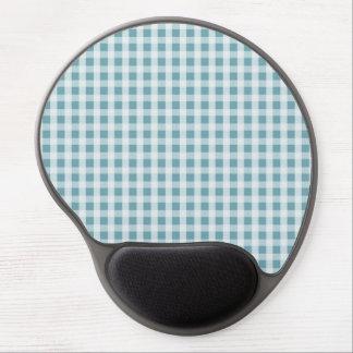 Hydrangea-blauer Gingham-Karo-kariertes Muster Gel Mousepad