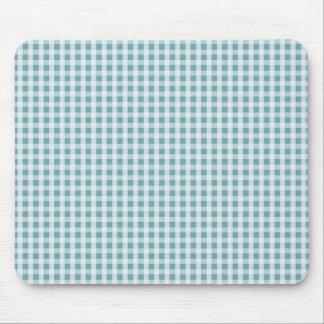 Hydrangea-blauer Gingham-Karo-kariertes Muster Mousepad
