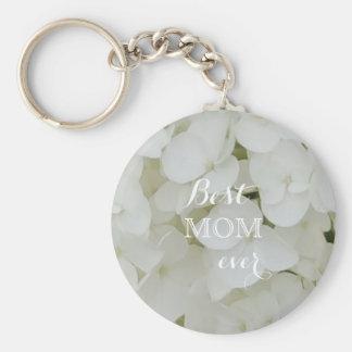 Hydrangea-Blumen-weiße elegante Blüten-mit Schlüsselanhänger