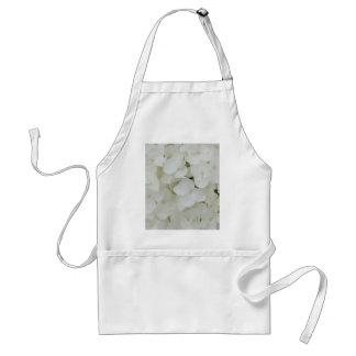Hydrangea-Blumen-weiße elegante mit Blumenblüte Schürze