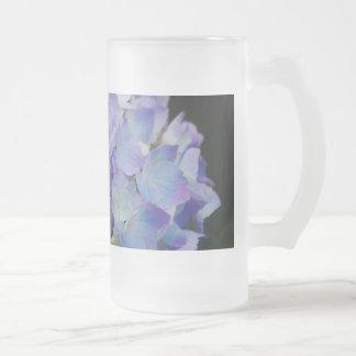 Hydrangea-Blüte Mattglas Bierglas