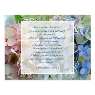 Hydrangea, der Save the Date PostkarteScripture Postkarte