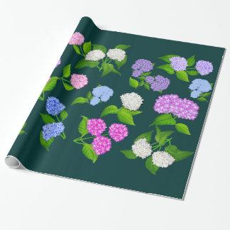 Hydrangea-Garten-Blumen-Verpackungs-Papier Geschenkpapier