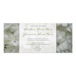Hydrangea-Hochzeit Einladung-Zusammen mit Eltern 10,2 X 23,5 Cm Einladungskarte