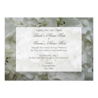 Hydrangea-Hochzeit laden - zusammen mit Eltern ein 12,7 X 17,8 Cm Einladungskarte