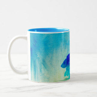 Hydrangea-Kunst Zweifarbige Tasse