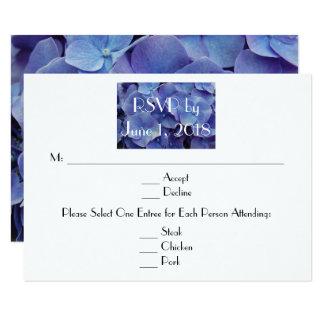 Hydrangea-lila Hochzeit UAWG Karte