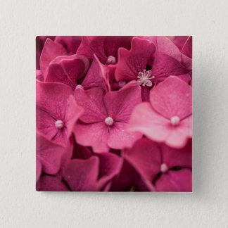 Hydrangea Quadratischer Button 5,1 Cm