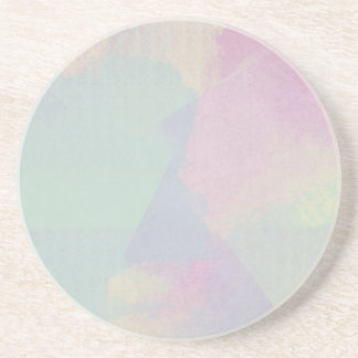 Hydrangea-Reihewatercolor-abstrakter Opal Untersetzer