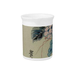 Hydrangea und Eisvogel durch Hiroshige Krug