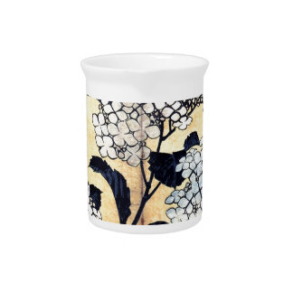 Hydrangea und Schwalbe durch Katsushika Hokusai Krug