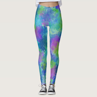 Hydrangeas abstrakt leggings