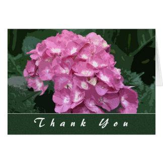 Hydrangeas danken Ihnen Karte