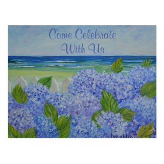 Hydrangeas durch die Seeeinladung Postkarte