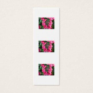 Hydrangeas. Rosa Blumen. Weiß Mini Visitenkarte