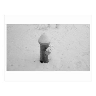 Hydrant im Winter Postkarte