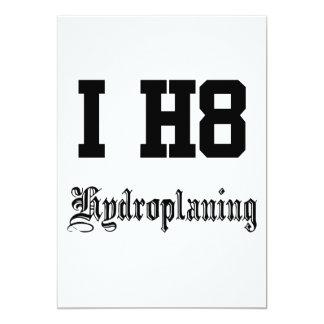 hydroplaning 12,7 x 17,8 cm einladungskarte