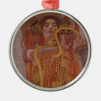 Hygeia durch Gustav Klimt Rundes Silberfarbenes Ornament