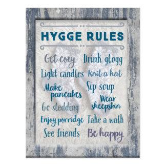 Hygge Regeln Postkarte
