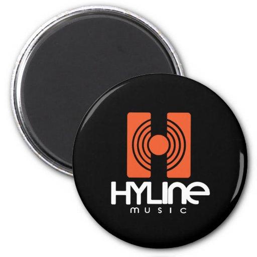 Hyline Music Magnet Black / Orange Magnete