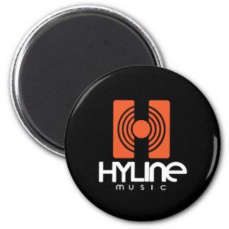 Hyline Music Magnet Black / Orange Runder Magnet 5,1 Cm