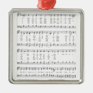 Hymne - O kommen alles zuverlässige YE Silbernes Ornament