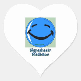 Hyperbare Medizin HF Herz-Aufkleber