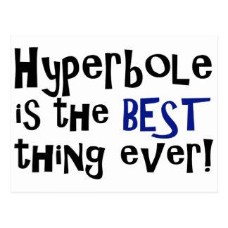 Hyperbel ist die beste Sache überhaupt! Postkarte