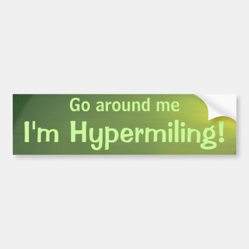 Hypermiling Autoaufkleber II