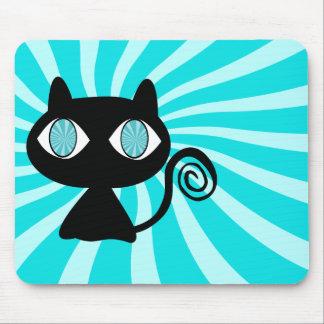 Hypno Katze mit zu vieler Katzenminze Mousepad