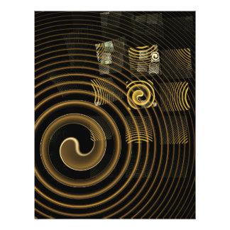 Hypnose-abstrakter Kunst-Flyer 21,6 X 27,9 Cm Flyer