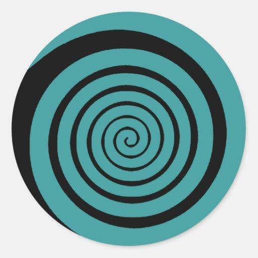 Hypnotik-Spirale Aufkleber