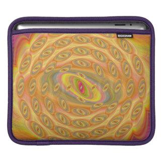 Hypnotische Augen des Sun iPad Sleeve