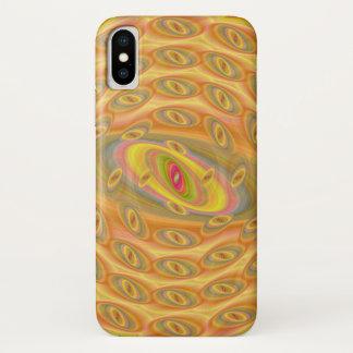 Hypnotische Augen des Sun iPhone X Hülle