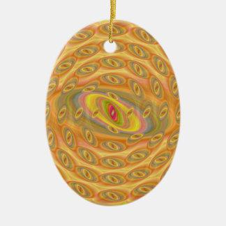Hypnotische Augen des Sun Keramik Ornament